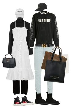 """Untitled #117"" by afivahapriani on Polyvore featuring Temperley London, Iris & Ink, Lisa Marie Fernandez, Play Comme des Garçons, Fear of God, Yves Saint Laurent, Billabong, Gucci, Balenciaga and Ted Baker"