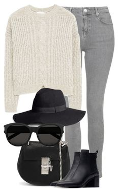 """""""Untitled #2141"""" by rosyfilm ❤ liked on Polyvore featuring Topshop, MANGO, Chloé, Zara, H&M and Yves Saint Laurent"""