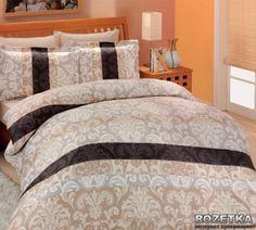 Комплект постельного белья Altinbasak Сатин Люкс 160x220 Classico Kahve (m006270)