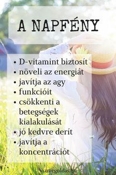 Életmódváltás - Miért egészséges a napfény? Doterra, Nutrition, Sport, Health, Deporte, Health Care, Sports, Doterra Essential Oils, Salud