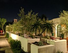 Evening at Alcazar Court  Five 1924 Bungalows with modern and vintage touches. Come Stay With Us - Everyone is Welcome Here! www.alcazarcourt.com  #airbnb #alcazarcourt #weloveithere #SanDiego #California