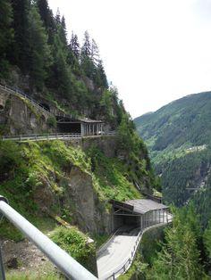 Splügen Pass that connects the Swiss Hinterrhein Valley and Splügen in the canton of Graubünden with the Valle Spluga in the Italian province of Sondrio