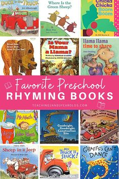 Our favorite rhyming books for preschoolers that are not only fun to read-aloud, but also build cognitive and language skills! #rhyming #books #literacy #reading #readaloud #preschool #3yearolds #4yearolds #teaching2and3yearolds Preschool Books, Toddler Preschool, Preschool Activities, Family Activities, 3 Year Olds, 1 Year, Time Planner, Create This Book, Activities For 2 Year Olds