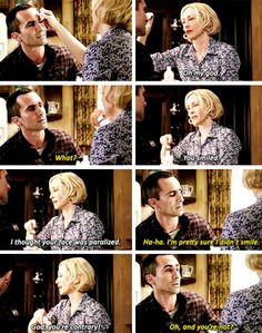 I ship Norma Bates & Sheriff Alex Romero so hard. I think this my favorite part in the whole show