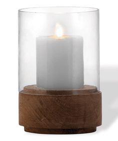 Look at this #zulilyfind! Wooden Hurricane Candle Holder #zulilyfinds