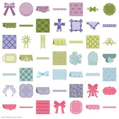 ♔ CRICUT ANNA GRIFFIN® RIBBONS AND BOWS CARTRIDGE  60 IMAGES #CRICUT
