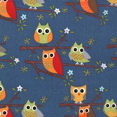 Owl - Ten Little Things is a range from Jenn Ski, for Moda.   $11.00 #owls #tenlittlethings #modafabrics