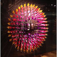 Window visual merchandising, LV arrows, Melbourne