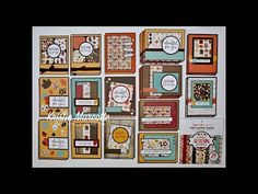 Echo Park's A Perfect Autumn - 35 cards from one paper pad Stamping Tools, Stamping Up, Scrapbooking Ideas, Scrapbook Cards, One Sheet Wonder, Pink Cards, Card Making Tutorials, Echo Park, Thanksgiving Cards