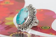 AMAZING STERLING SILVER RINGS IN TIBETAN TURQUOISE STONE $26.99 https://www.brillantejewelry.com/collections/rings/products/amazing-sterling-silver-rings-in-turquoise-stone