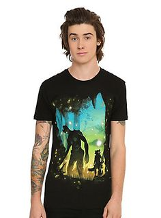 Marvel Guardians Of The Galaxy Rocket & Groot Forest T-Shirt,