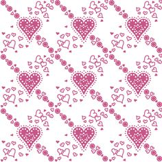 hearts_and_doilies_1 fabric by victorialasher on Spoonflower - custom fabric