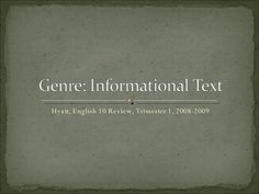 informational-text-presentation by Melissa Hyatt via Slideshare Grammar, Fails, Presentation, Make Mistakes