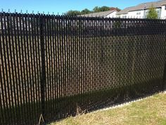 Chain Link Fence Privacy Ideas null casa verde 5 ft. black fence slat | chain link fencing