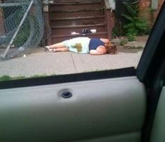 Not Her Best Day - Girl Passed Out on the Ground with Poop in Her Pants - Fail ---- best hilarious jokes funny pictures walmart humor fail