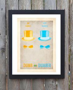 Dumb and dumber  minimalist film poster par minimalmovieprints, £5.00