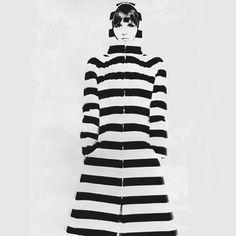 Vuokko Eskolin-Nurmesniemi via Style Bubble Mod Fashion, 1960s Fashion, Vintage Fashion, Fashion Shoes, Black And White Design, Black White Stripes, Style 60s, Chevron Wallpaper, Marimekko
