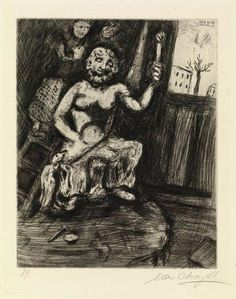 Statuary and the Statue of Jupiter - Chagall Marc