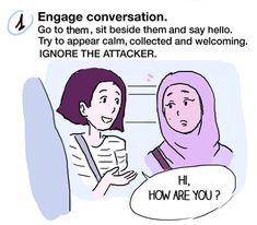 A young artist by the name of Maeril created a fantastic comic for anyone witnessing Islamophobic harrassment in public.