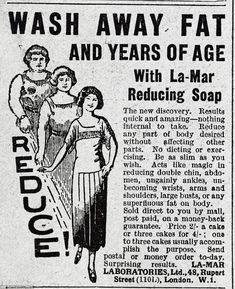 Wash away fat and years of age