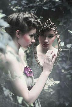 mirror, girl, and photography resmi