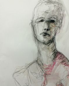 The layering of marks is a way of building and reflecting on experience – capturing presence and suggesting an absence or loss of being through obliterating the surface. The development of a person… Figure Painting, Figure Drawing, Painting & Drawing, Abstract Portrait, Portrait Art, Art Studio Design, Kunst Online, Etching Prints, Identity Art