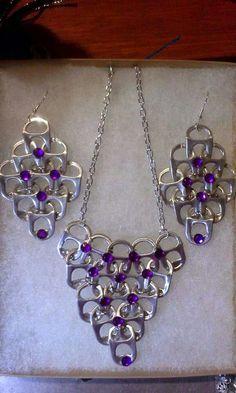 Soda Tab Crafts, Can Tab Crafts, Bottle Cap Crafts, Tape Crafts, Wire Jewelry, Jewelry Crafts, Jewelery, Soda Tab Bracelet, Pop Top Crafts