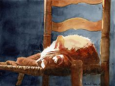 Orange Marmalade Tabby Cat by rachelsstudio