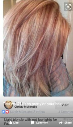 Light blonde with red low lights