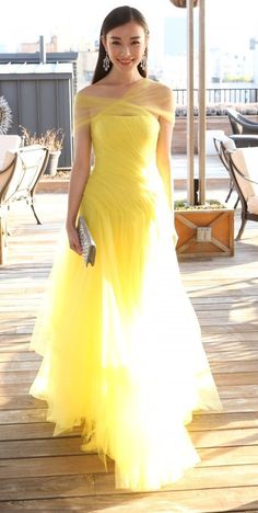 Yellow Prom Dresses,Charming Evening Dress,Yellow Prom Gowns,off the shoulder Prom Dresses,New Prom Gowns,Yellow Evening Gown,Fashions Party by DestinyDress, $177.39 USD
