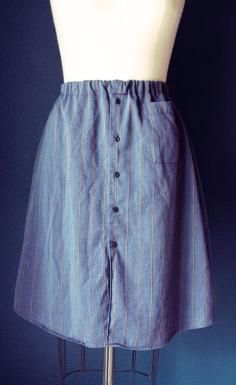 DIY Tutorial DIY MEN SHIRT REFASHION / DIY Skirt From A Mens Shirt - Bead&Cord