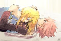 Natsu and Lucy. :)