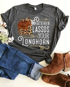 368baf3f Rodeo Shirt, Whatever Lassos Your Longhorn, Western Cowgirl Shirt, Boho,  Plus Size Available