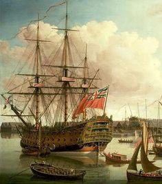 HMS Royal George was een 100-gun eersteklas schip van de lijn van de Royal Navy, gebouwd in Woolwich Dockyard en lanceerde op 18 februari 1756. De grootste oorlogsschip in de wereld op het moment van de lancering, zag ze dienst tijdens de Zevenjarige 'War waaronder die Admiraal de Heer Edward Hawke' s vlaggenschip van de Slag van Quiberon Bay en later deel te nemen aan de Slag van Cape St Vincent.