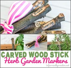 DIY Garden Markers ~ made out of sticks you find in your backyard!
