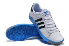 best website 58a6f 2e93d Adidas Forest Hills - White  Black  blue