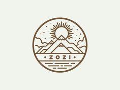 Dribbble - Zozi Mountain Badge by Matt Anderson