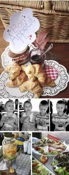 A beautiful rustic, shabby chic 'Sky' party theme food idea for a 1st birthday party