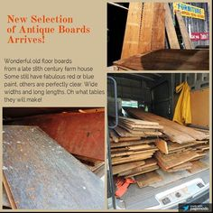 New arrival of reclaimed Boards