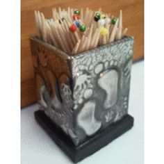 """""""One of a kind"""" Toothpicks Holder - Handcrafted Pewter Art by Hanli for R1.00"""