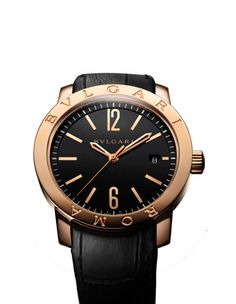 Today brings us Bulgari's lastest edition of their classic Roma, which retains the iconic style of their original 1970's timepiece inspired by ancient Roman coins. $24,300, Bulgari.