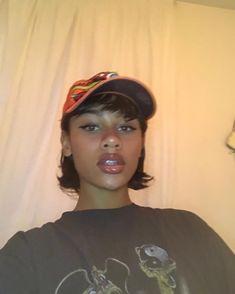 Black Girl Aesthetic, Aesthetic Hair, Pretty Black Girls, Beautiful Black Women, Natural Hair Styles, Short Hair Styles, Fall Makeup Looks, Makeup For Brown Eyes, Pretty Face