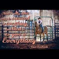 Barrel racing quote with Tilly Jenski