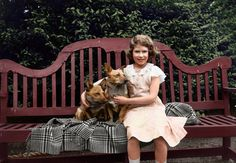 See Colorized Photos of a Young Queen Elizabeth II #PrinceGeorge...: See Colorized Photos of a Young Queen… #PrinceGeorge #QueenElizabeth
