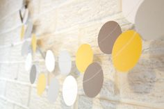 Wedding decoration paper circle confetti garland / by pomtree