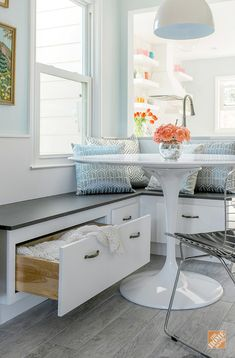 58 Trendy built in bench seating kitchen drawers Dining Room Bench Seating, Storage Bench Seating, Banquette Seating, Floor Seating, Dining Nook, Lounge Seating, Table Bench, Nook Table, Dining Tables