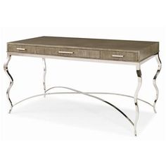 849-761 - Writing Desk With Metal Base