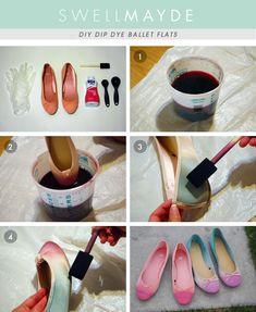 DIY: dip dye ombre flats