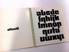 Walter Ballmer, page from book of Olivetti marks, 1971