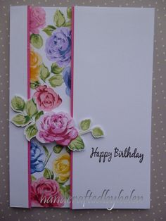 Handcrafted by Helen: Altenew Vintage Roses Panel Card